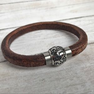 Handmade Jewelry - Hand Crafted Leather Bangle